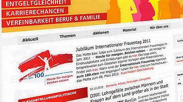 Screenshot der Kampagnenwebsite DGB Frauen