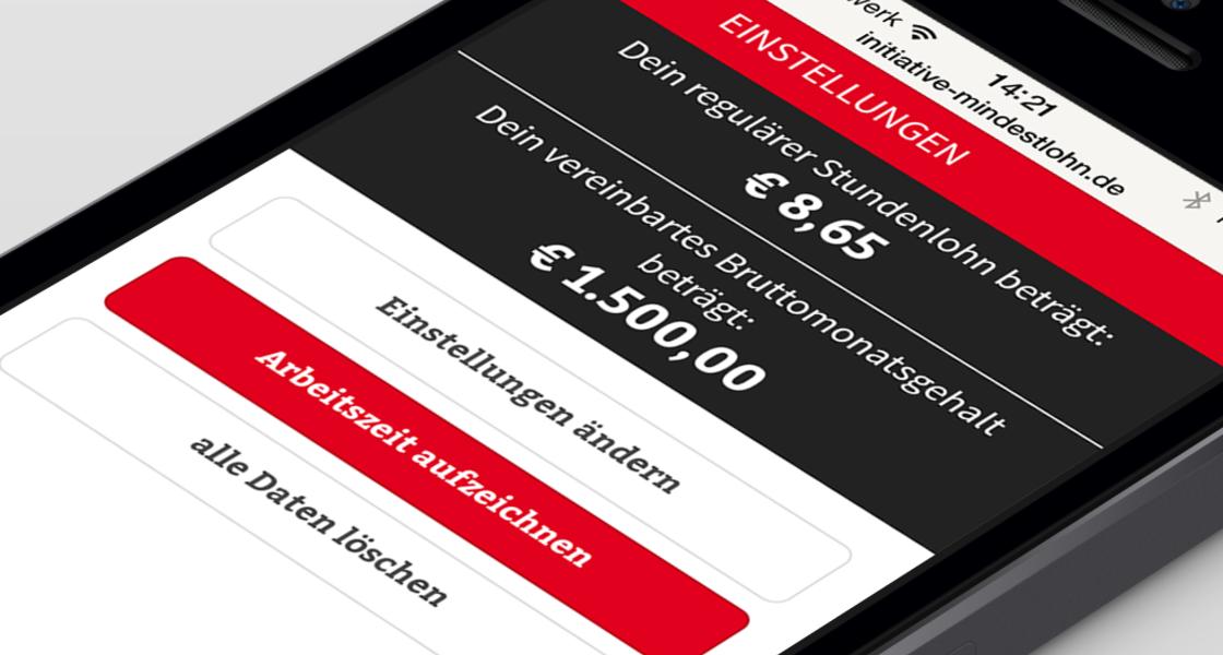 Mindestlohn App