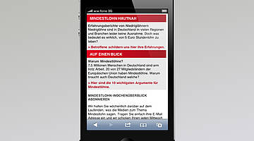 Startseite Mobile Website 2/4