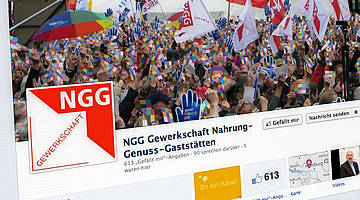 Screenshot der Facebookseite der NGG